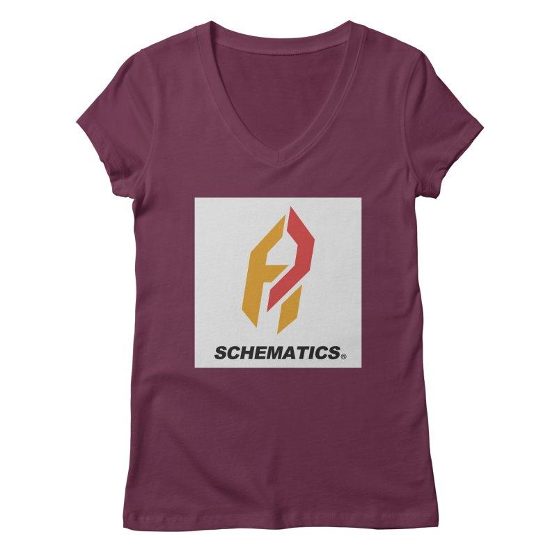 Schematicai Logo. Women's V-Neck by Shadeprint's Artist Shop
