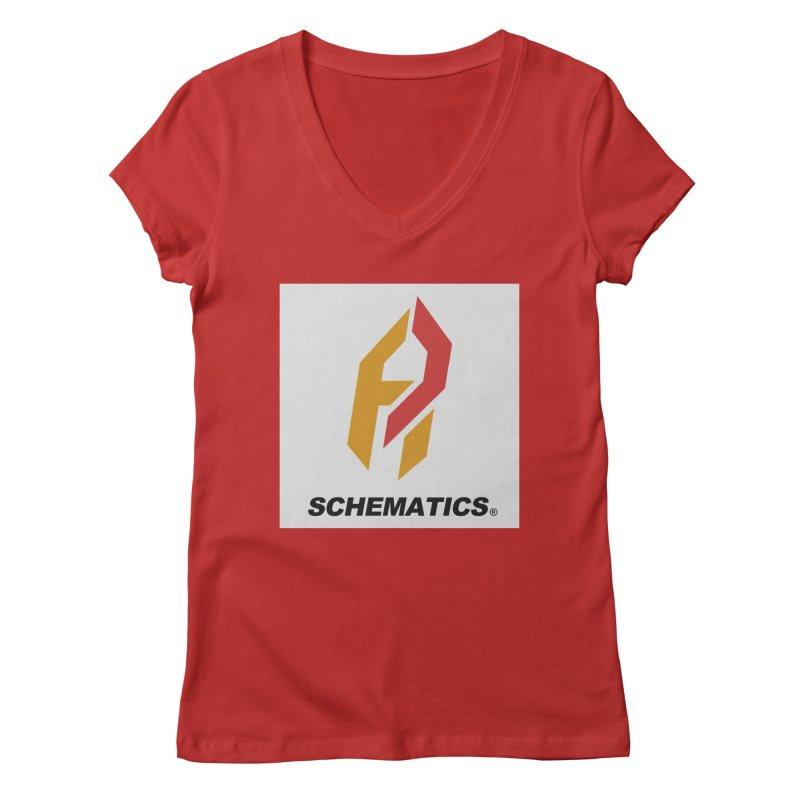 Schematicai Logo. Women's Regular V-Neck by Shadeprint's Artist Shop