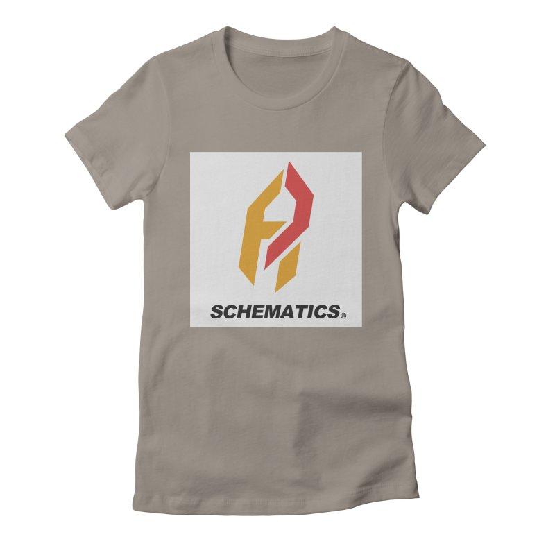Schematicai Logo. Women's Fitted T-Shirt by Shadeprint's Artist Shop