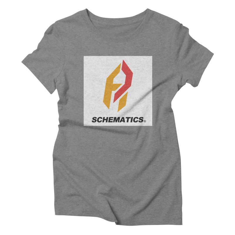 Schematicai Logo. Women's Triblend T-shirt by Shadeprint's Artist Shop
