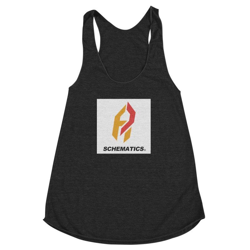 Schematicai Logo. Women's Racerback Triblend Tank by Shadeprint's Artist Shop