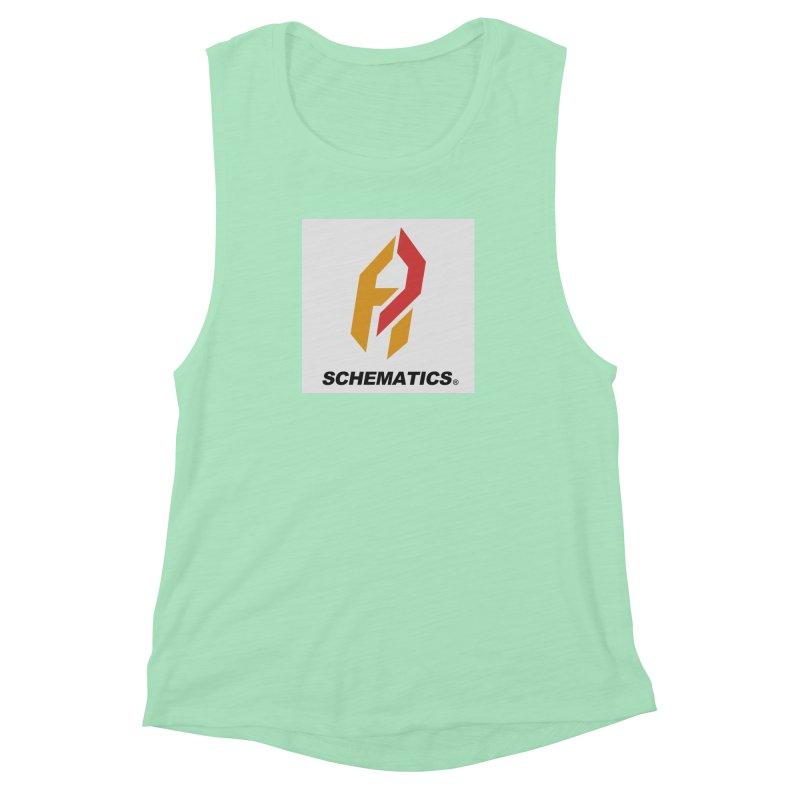 Schematicai Logo. Women's Muscle Tank by Shadeprint's Artist Shop