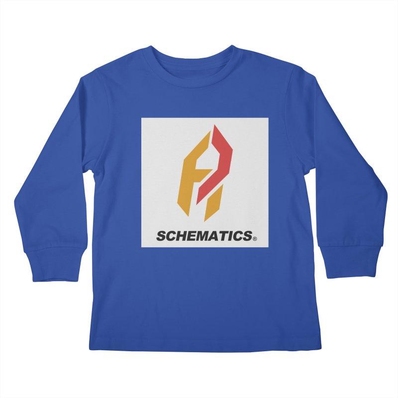 Schematicai Logo. Kids Longsleeve T-Shirt by Shadeprint's Artist Shop