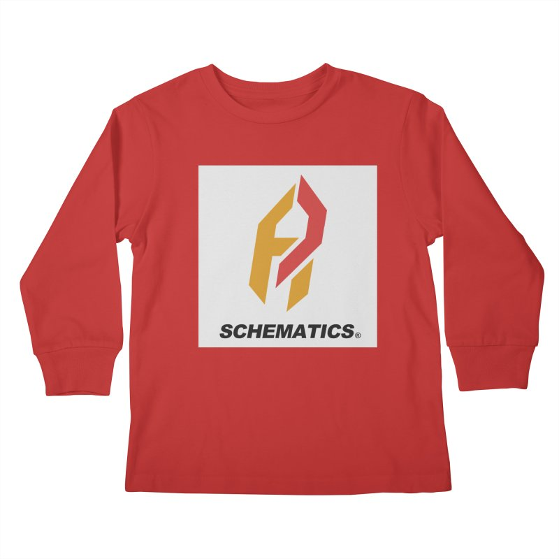 Schematicai Logo. Kids Longsleeve T-Shirt by Shadeprint's Artist Shop