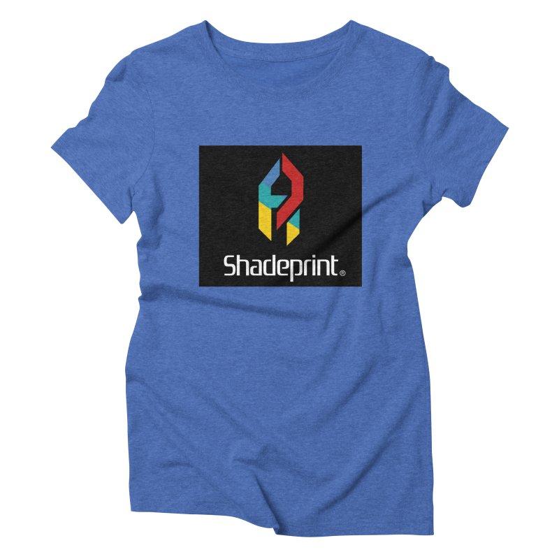 Play Shadeprint Logo Women's Triblend T-Shirt by Shadeprint's Artist Shop