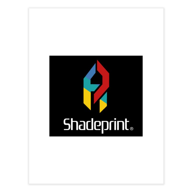 Play Shadeprint Logo Home Fine Art Print by SHADEPRINT.DESIGN
