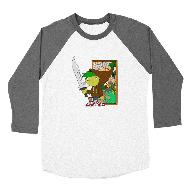 Hooded Thing Women's Baseball Triblend Longsleeve T-Shirt by Shadeprint's Artist Shop