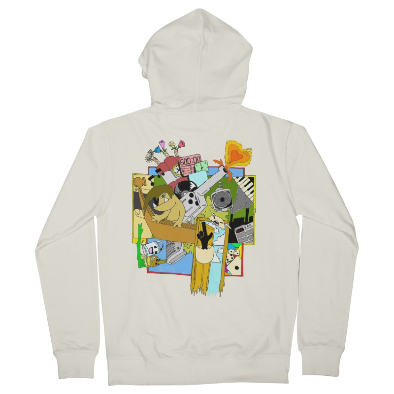 Drippy Ole Shadeprint Men's French Terry Zip-Up Hoody by Shadeprint's Artist Shop