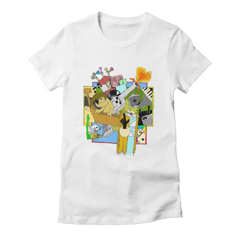 Drippy Ole Shadeprint Women's Fitted T-Shirt by Shadeprint's Artist Shop