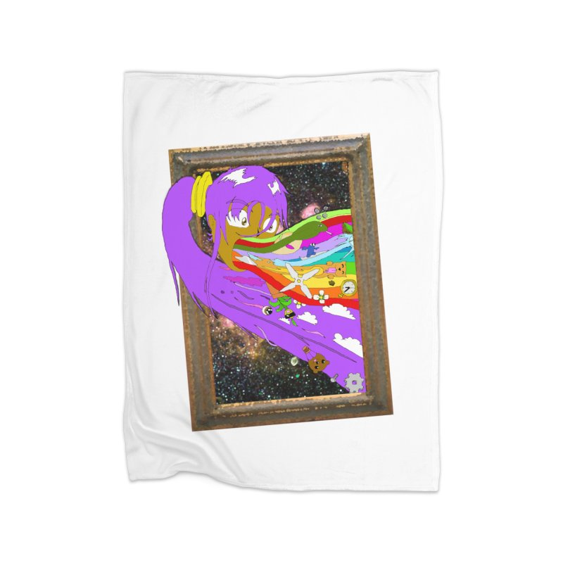 Cosmic Vomit! Home Fleece Blanket Blanket by Shadeprint's Artist Shop