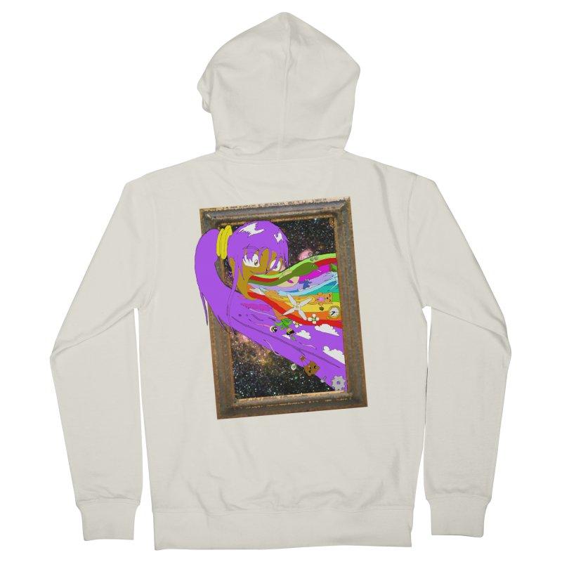 Cosmic Vomit! Men's French Terry Zip-Up Hoody by Shadeprint's Artist Shop
