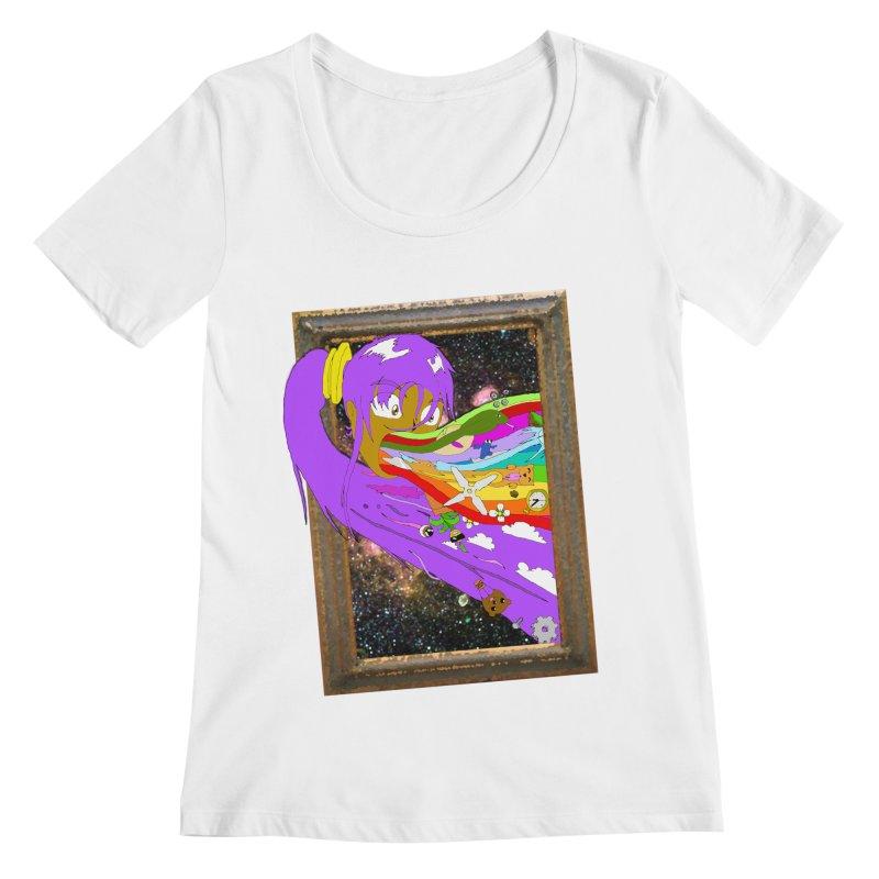Cosmic Vomit! Women's Regular Scoop Neck by Shadeprint's Artist Shop