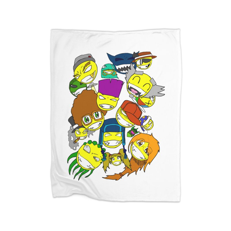 ALL SMILES! Home Fleece Blanket Blanket by Shadeprint's Artist Shop