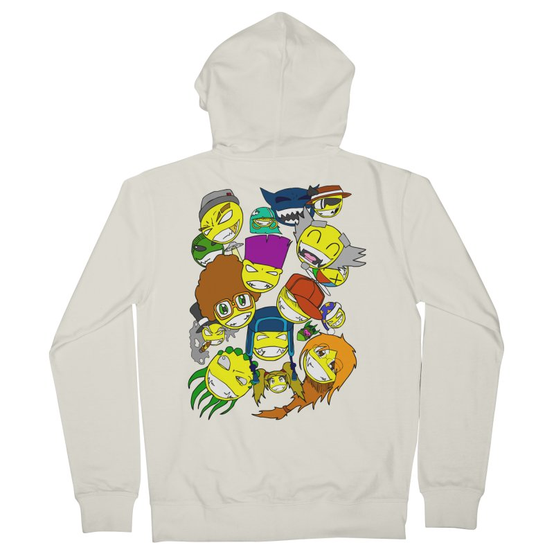 ALL SMILES! Men's French Terry Zip-Up Hoody by Shadeprint's Artist Shop