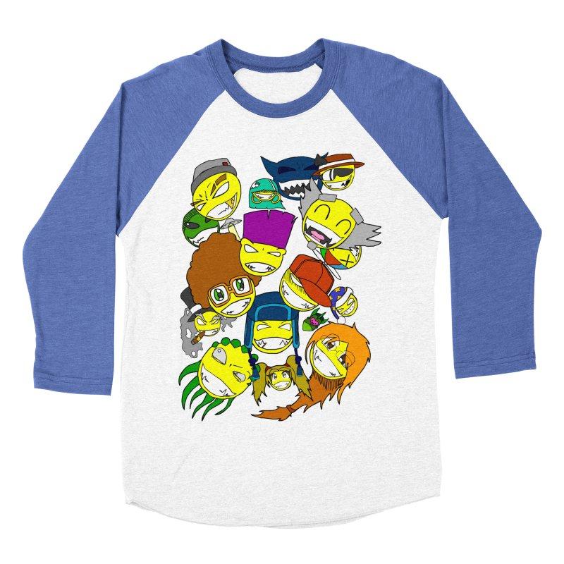 ALL SMILES! Men's Baseball Triblend Longsleeve T-Shirt by Shadeprint's Artist Shop