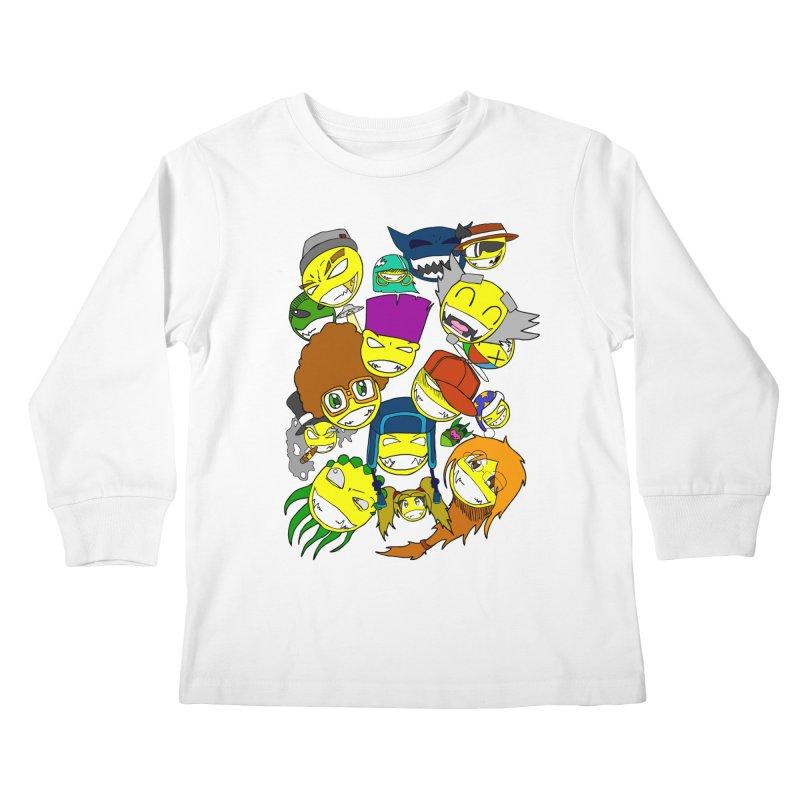 ALL SMILES! Kids Longsleeve T-Shirt by Shadeprint's Artist Shop