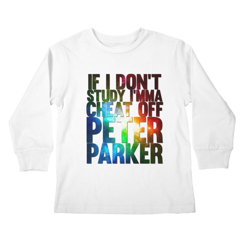 If I don't study (Never Dead Lyrics) Kids Longsleeve T-Shirt by Shadeprint's Artist Shop