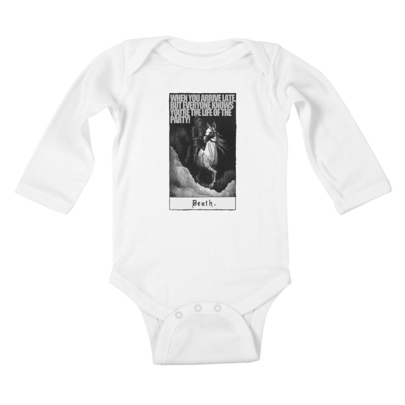 Hold my steed Kids Baby Longsleeve Bodysuit by Shadeprint's Artist Shop