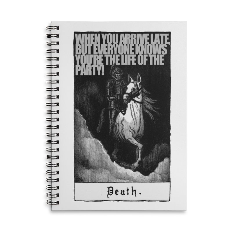 Hold my steed Accessories Lined Spiral Notebook by Shadeprint's Artist Shop