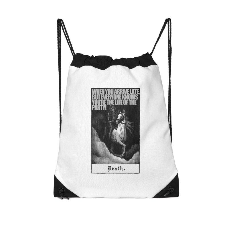 Hold my steed Accessories Drawstring Bag Bag by Shadeprint's Artist Shop