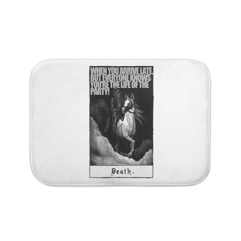 Hold my steed Home Bath Mat by Shadeprint's Artist Shop