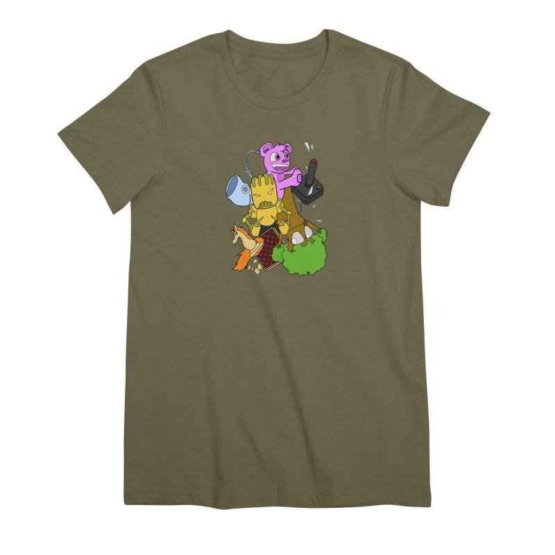 Boom-Box Clap! Women's Premium T-Shirt by Shadeprint's Artist Shop