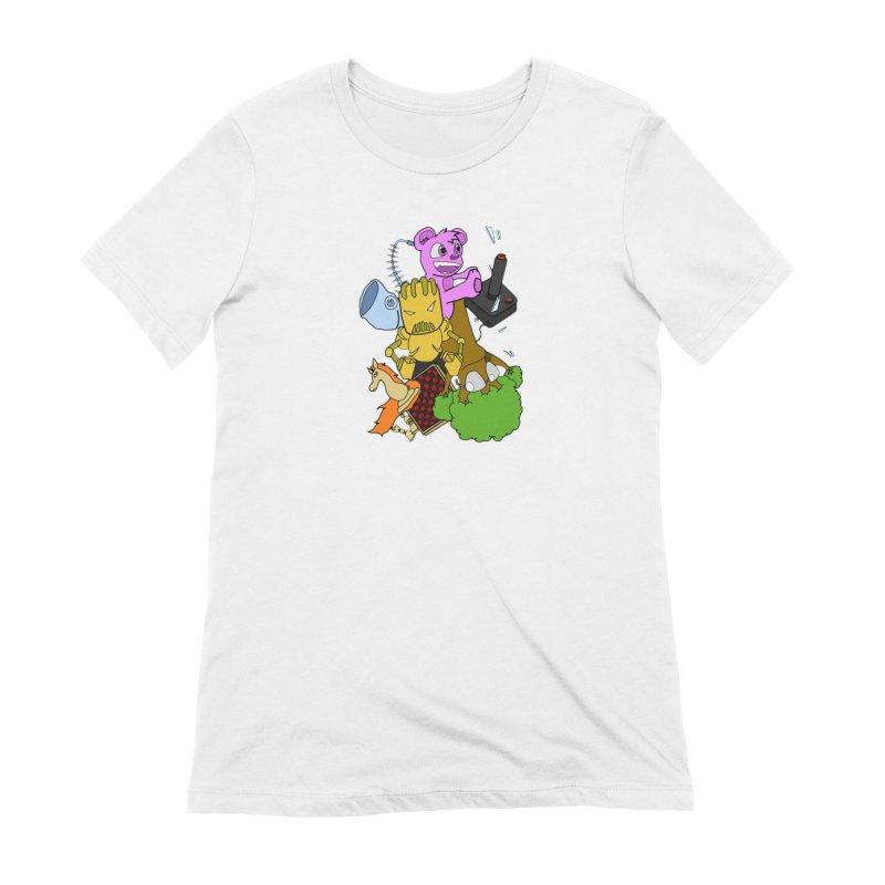 Boom-Box Clap! Women's Extra Soft T-Shirt by Shadeprint's Artist Shop