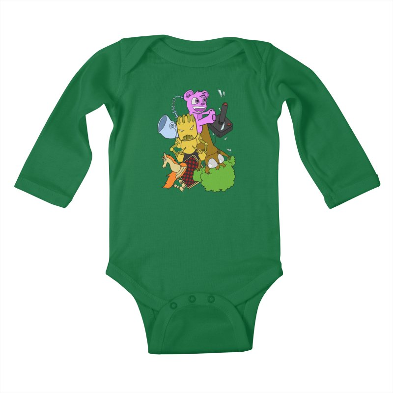 Boom-Box Clap! Kids Baby Longsleeve Bodysuit by Shadeprint's Artist Shop