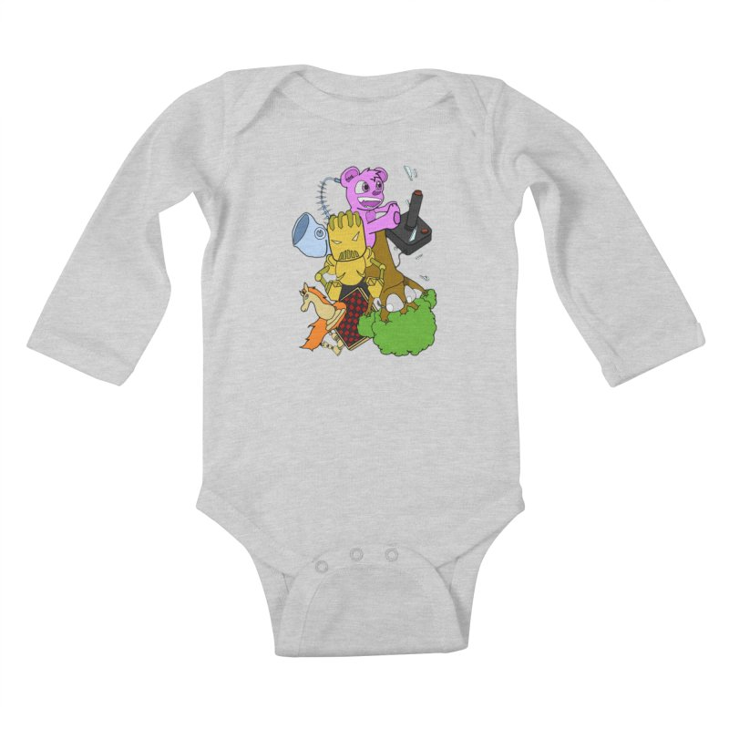 Boom-Box Clap! Kids Baby Longsleeve Bodysuit by Shadeprint's Artist Shop