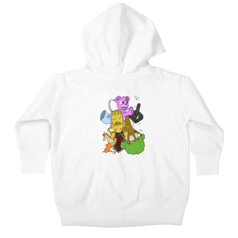 Boom-Box Clap! Kids Baby Zip-Up Hoody by Shadeprint's Artist Shop