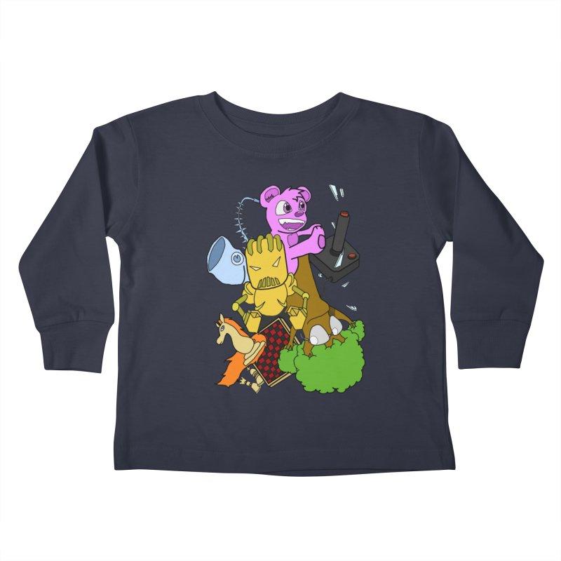 Boom-Box Clap! Kids Toddler Longsleeve T-Shirt by Shadeprint's Artist Shop