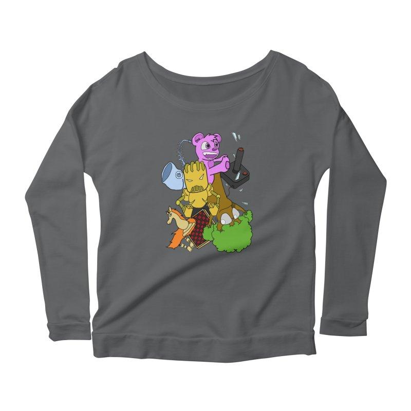 Boom-Box Clap! Women's Scoop Neck Longsleeve T-Shirt by Shadeprint's Artist Shop