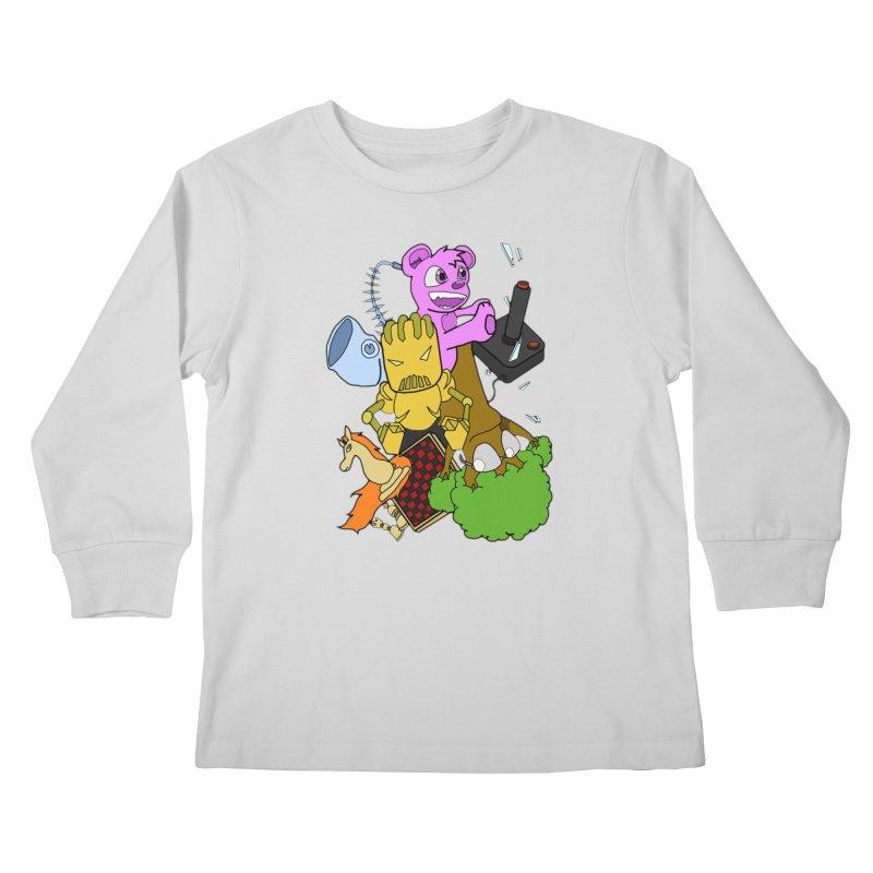 Boom-Box Clap! Kids Longsleeve T-Shirt by Shadeprint's Artist Shop