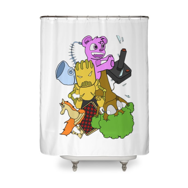 Boom-Box Clap! Home Shower Curtain by Shadeprint's Artist Shop