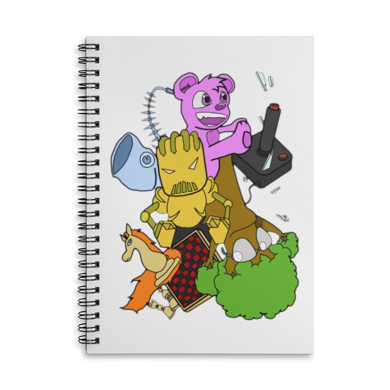 Boom-Box Clap! Accessories Lined Spiral Notebook by Shadeprint's Artist Shop