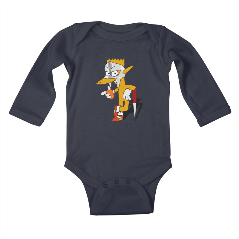 Lil' Qurt Kids Baby Longsleeve Bodysuit by Shadeprint's Artist Shop