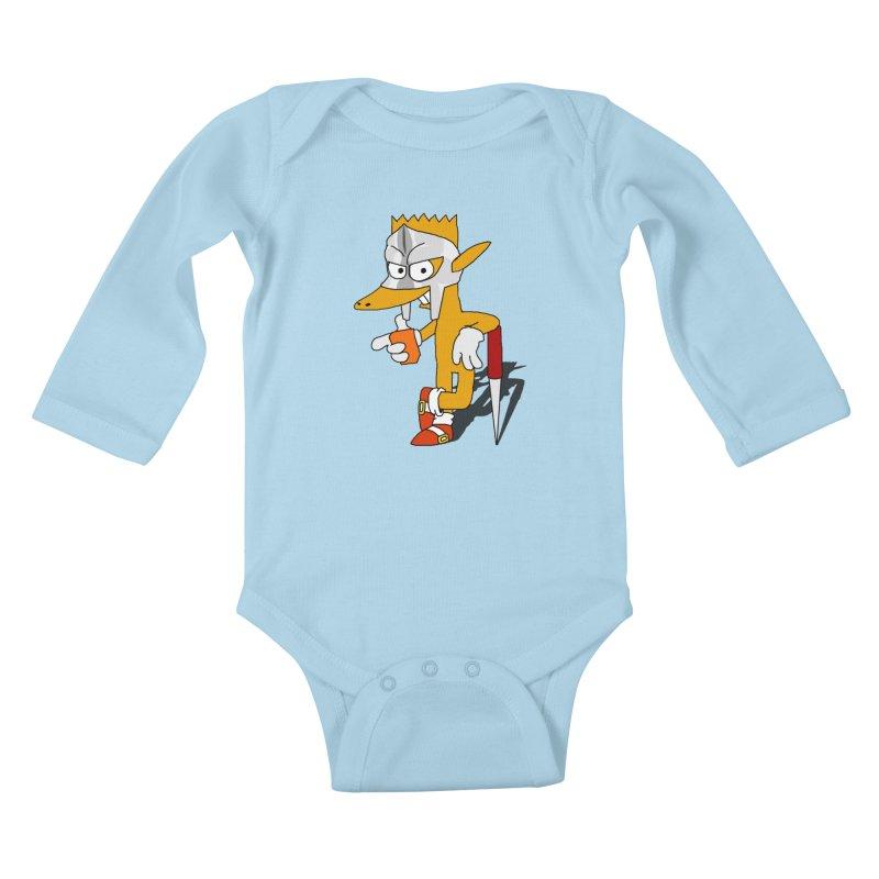 Lil' Qurt Kids Baby Longsleeve Bodysuit by SHADEPRINT.DESIGN