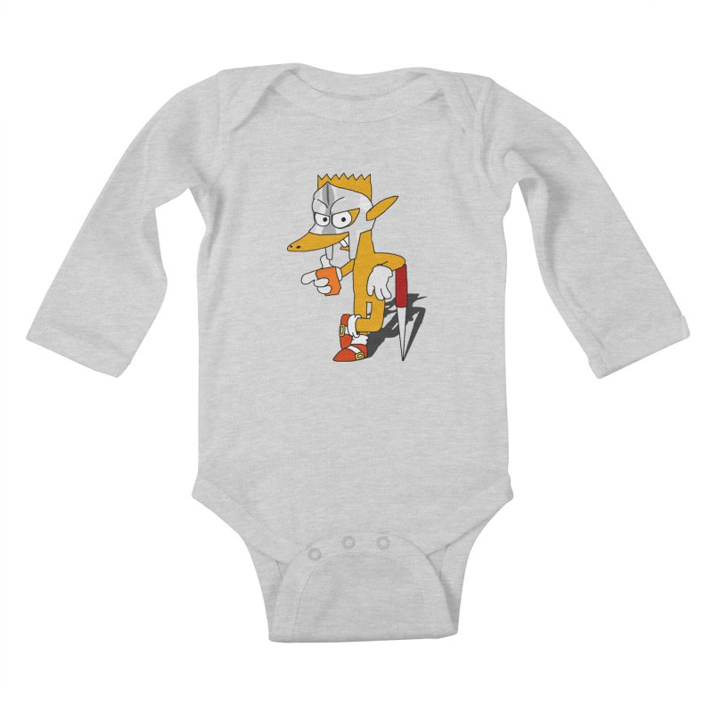 Lil' Qurt Kids Baby Longsleeve Bodysuit by Shadeprint's Artist Shop