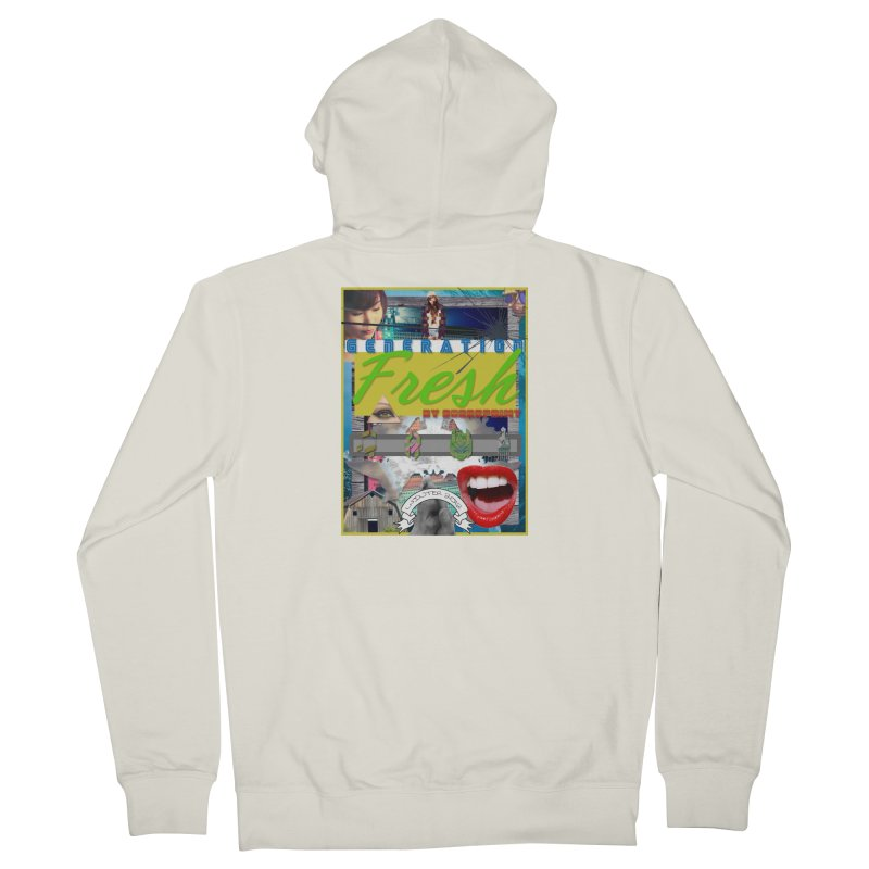 GENERATION Fresh! Women's French Terry Zip-Up Hoody by Shadeprint's Artist Shop