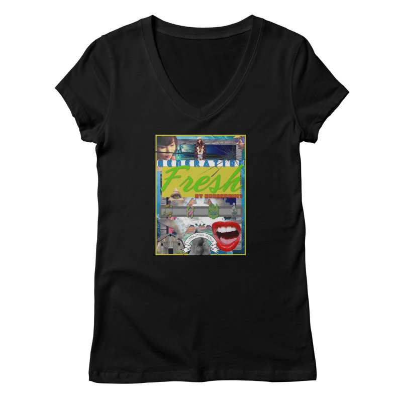 GENERATION Fresh! Women's V-Neck by Shadeprint's Artist Shop