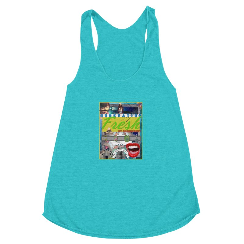GENERATION Fresh! Women's Racerback Triblend Tank by Shadeprint's Artist Shop