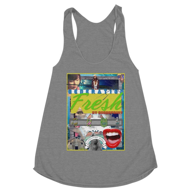 GENERATION Fresh! Women's Racerback Triblend Tank by Shadeprint's Artist Shop