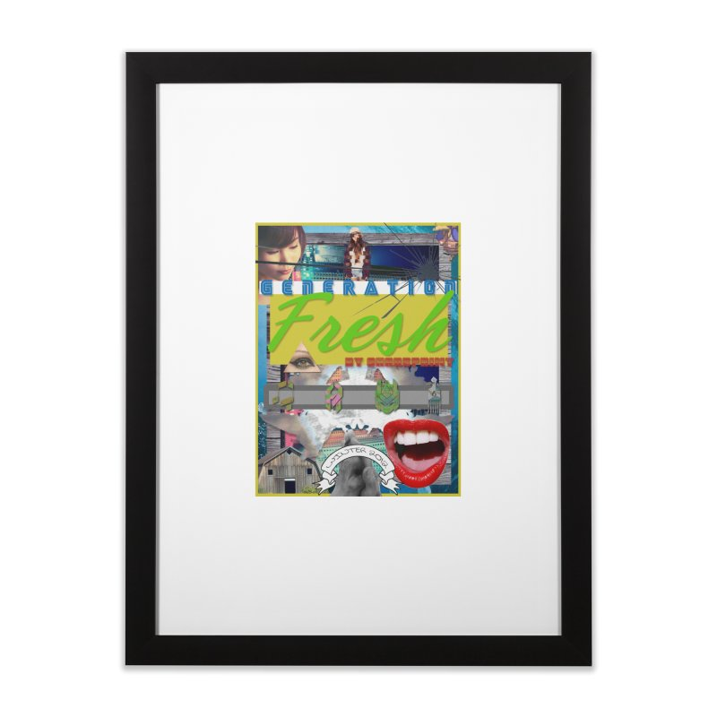 GENERATION Fresh! Home Framed Fine Art Print by Shadeprint's Artist Shop