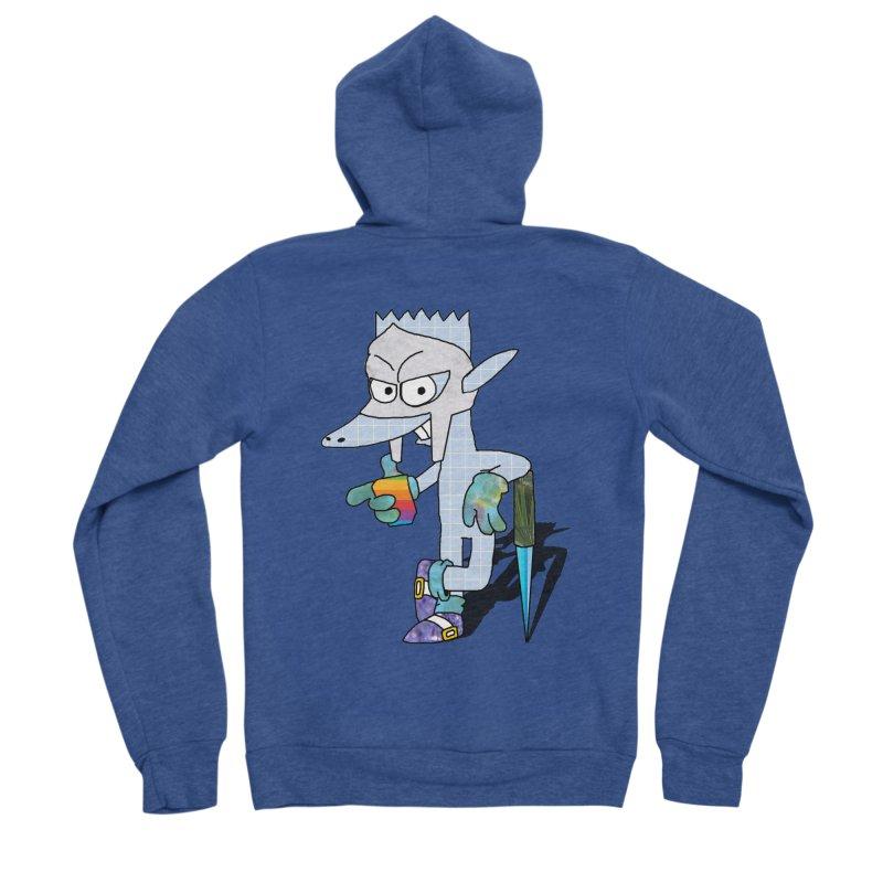 Lil' Qurt [unseen] Men's Sponge Fleece Zip-Up Hoody by Shadeprint's Artist Shop