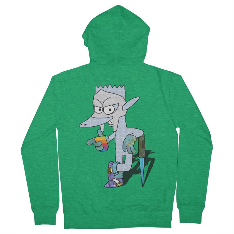 Lil' Qurt [unseen] Women's French Terry Zip-Up Hoody by Shadeprint's Artist Shop