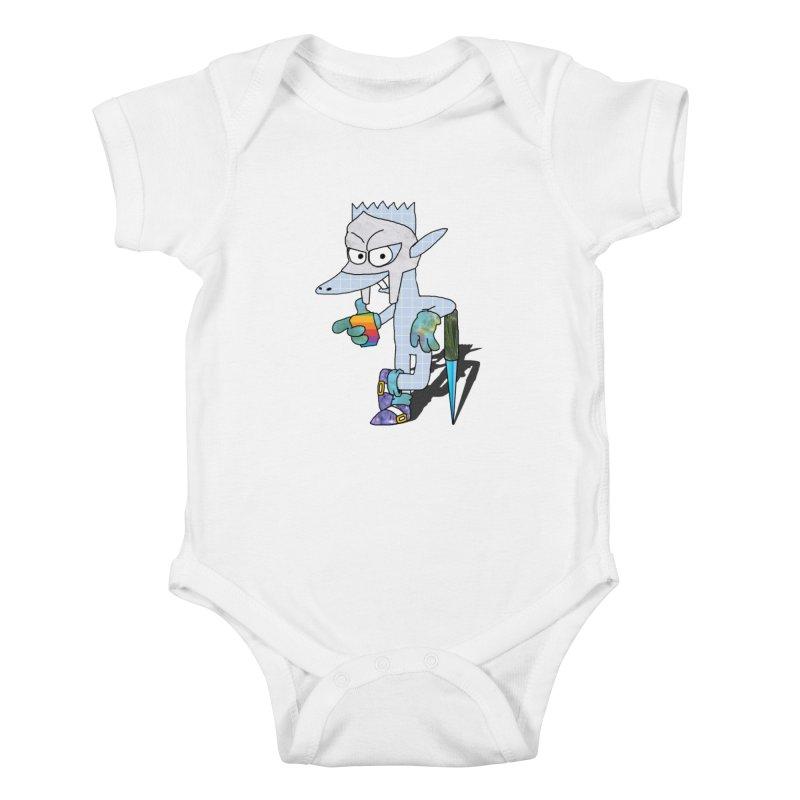 Lil' Qurt [unseen] Kids Baby Bodysuit by SHADEPRINT.DESIGN