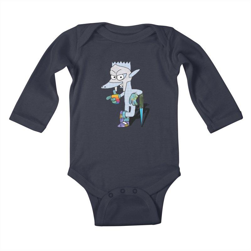 Lil' Qurt [unseen] Kids Baby Longsleeve Bodysuit by Shadeprint's Artist Shop