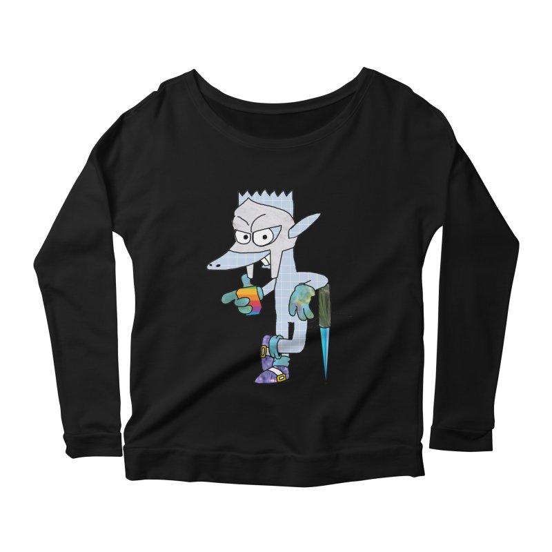 Lil' Qurt [unseen] Women's Scoop Neck Longsleeve T-Shirt by Shadeprint's Artist Shop