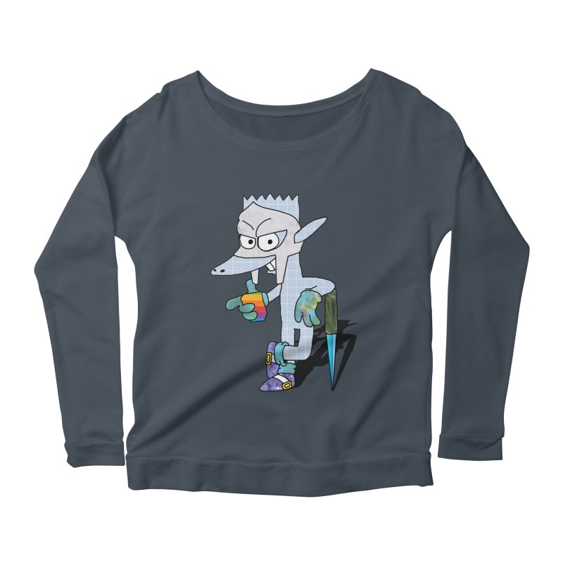 Lil' Qurt [unseen] Women's Scoop Neck Longsleeve T-Shirt by Shadeprint's Artist Shop