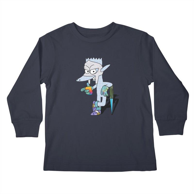 Lil' Qurt [unseen] Kids Longsleeve T-Shirt by Shadeprint's Artist Shop